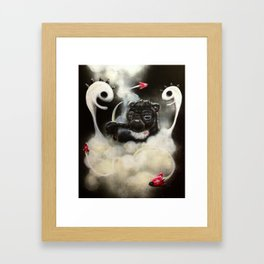I Don't Care Bear II by Dennis Quijano Framed Art Print