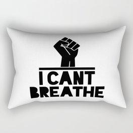 black lives matter 'i cant breathe' blm protest power fist Rectangular Pillow