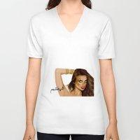 arabic V-neck T-shirts featuring GirlyWow! Arabic by Shaikha Alansari