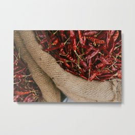 Peppers in the Market Metal Print