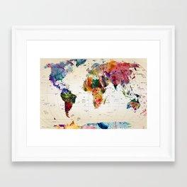 map Framed Art Print