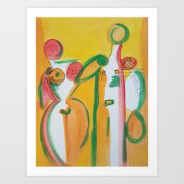Abstract Lovers #2 Art Print