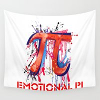pi Wall Tapestries featuring Emotional Pi by Vi Sion