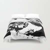 pigeon Duvet Covers featuring Pigeon by Manford Holmes