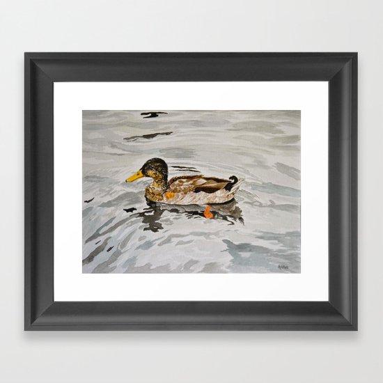 the mallard Framed Art Print
