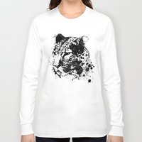 leopard Long Sleeve T-shirts featuring Leopard by DIVIDUS