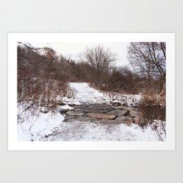 Scarborough Bluffs in Winter on December 27th, 2020. XVII Art Print