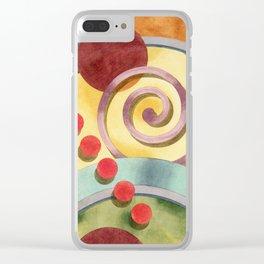 Europa Allover Design Clear iPhone Case