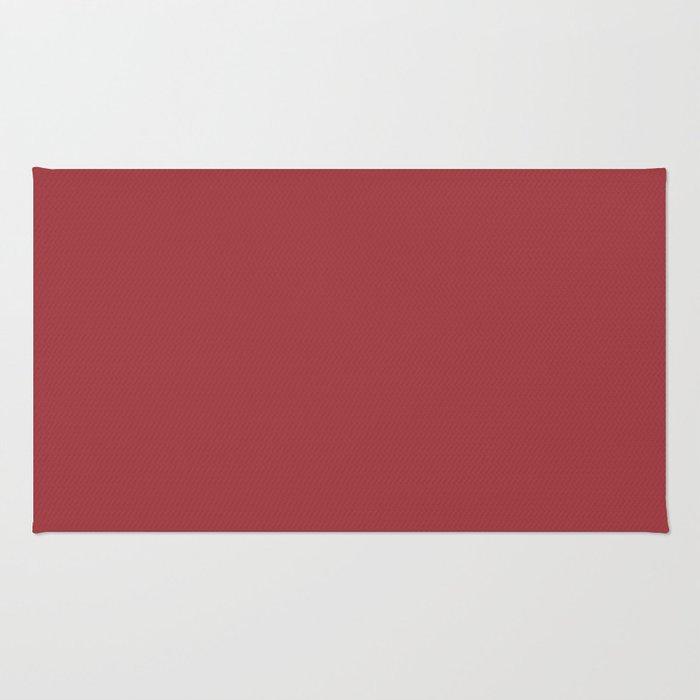 Fill 'er Up ~ Brick Red Coordinating Solid Rug