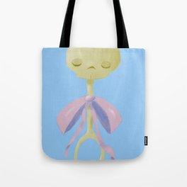 Skull Rattle (blue) Tote Bag