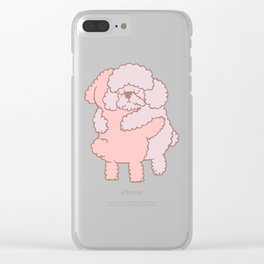 Poodle Hugs Clear iPhone Case