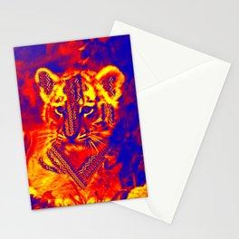 Aztec lion cub Stationery Cards