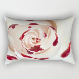 Bleeding Rose Macro Rectangular Pillow
