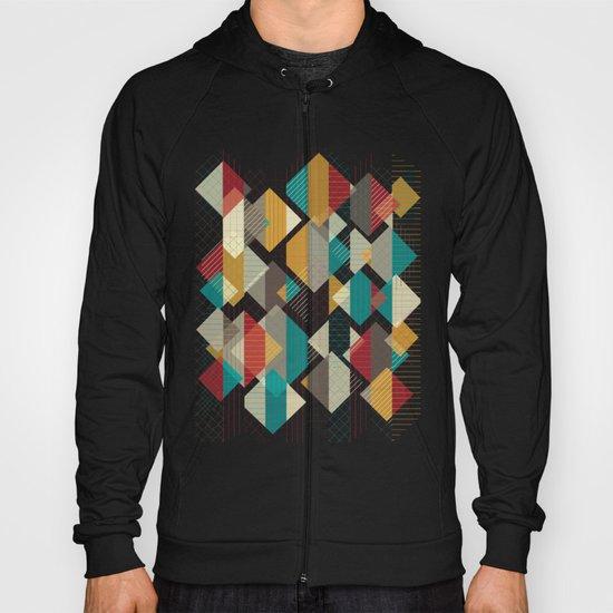 Geometric Geek Pattern - Squares, Stripes, Grids Hoody