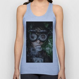 Steampunk girl Unisex Tank Top