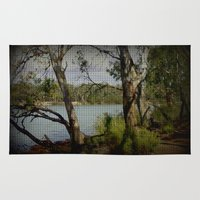 murray Area & Throw Rugs featuring The Mighty Murray River by Chris' Landscape Images & Designs