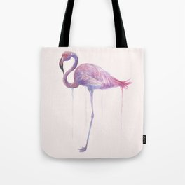 """Watercolor Painting of Picture """"Flamingo"""" Tote Bag"""