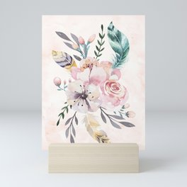 Forest Floral Pink by Nature Magick Mini Art Print