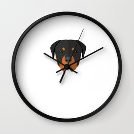 No Dog Left Behind Funny Graphic T-shirt Wall Clock