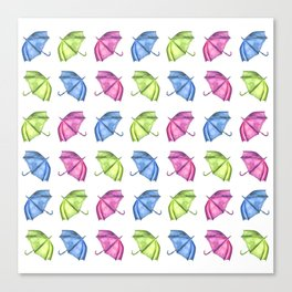 Colorful Umbrella Pattern Canvas Print