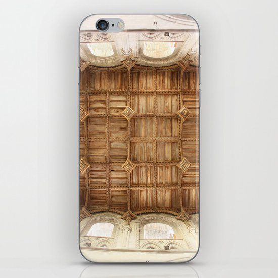 Wooden church ceiling  iPhone & iPod Skin