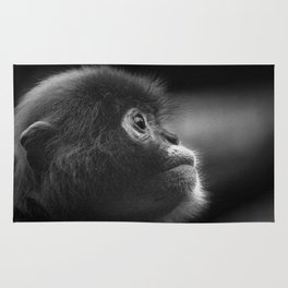 deep thought monkey Rug