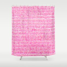 Sea of pink - a handmade pattern Shower Curtain