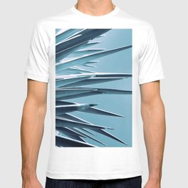 Palm Rays - Duotone Black and Teal T-shirt