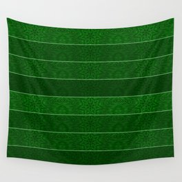 Green Snowflake Stripes Wall Tapestry