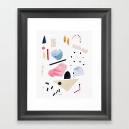 toy piano Framed Art Print