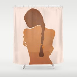 Minimal Female Figure Shower Curtain