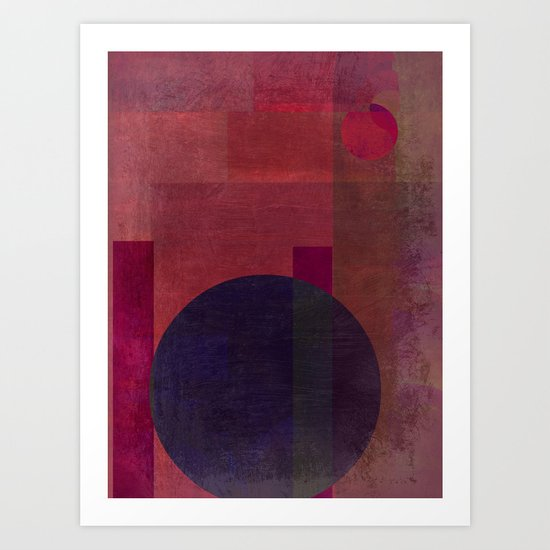 Abstract: Situating Art Print
