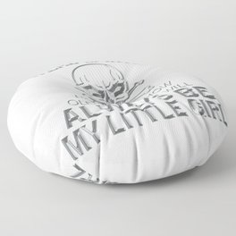 Have a Daughter? Send the Warning Out! Floor Pillow