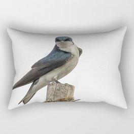 Tree Swallow with Flair Rectangular Pillow