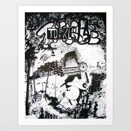 Turkle Poster Art Print