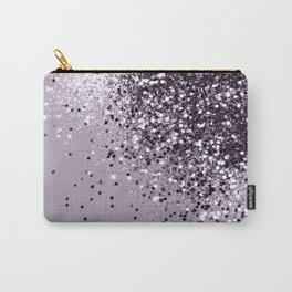 Sparkling Lavender Lady Glitter #1 #shiny #decor #art #society6 Carry-All Pouch