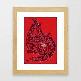 Dragon Labyrinth Framed Art Print