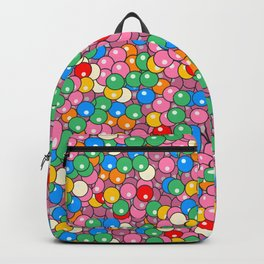 Bubble Gum Balls Juicy Tropical Fruity Backpack