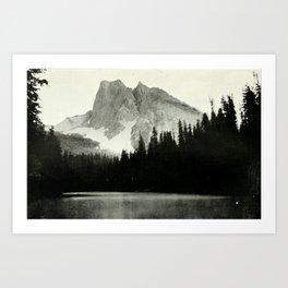 Mount Burgess and Emerald Lake Art Print
