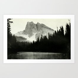 Mount Burgess and Emerald Lake Art Print