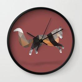 Silver Cross Fox. Wall Clock