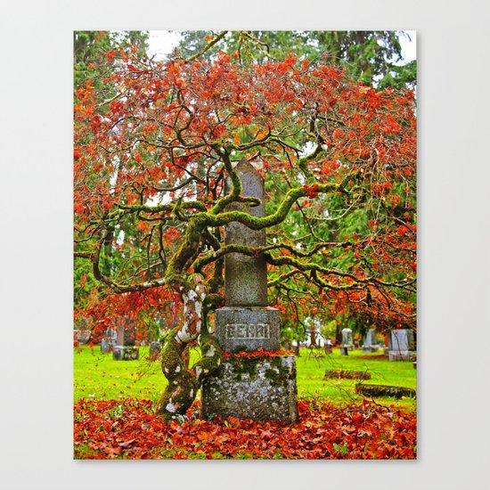 Cemetery love Canvas Print