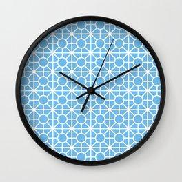 Blue geometric Wall Clock