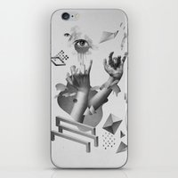 hands iPhone & iPod Skins featuring Hands by Oh Yeah Studio