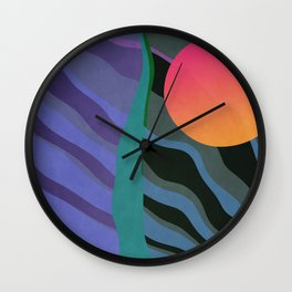 Crepuscular Streams Wall Clock