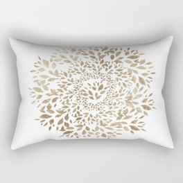 Gold Leaves Mandala Rectangular Pillow