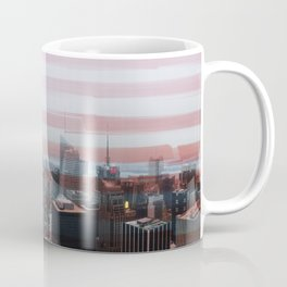 Patriotic NYC with Star-Spangled Banner Flag Coffee Mug