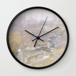 Misty Creek Painting Wall Clock