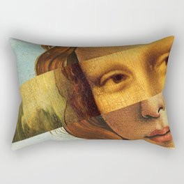 Mona Lisa Rectangular Pillow