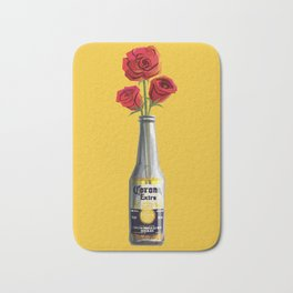 Dudes Love Roses (Yellow) Bath Mat
